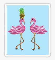 burlesque flamingos Sticker