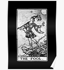 The Fool Tarot Card - Major Arcana - fortune telling - occult Poster
