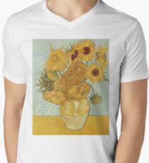 Sunflowers by Vincent Van Gogh Men's V-Neck T-Shirt