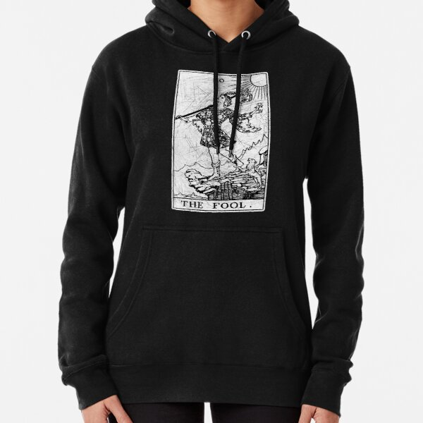 The Fool Tarot Card - Major Arcana - fortune telling - occult Pullover Hoodie