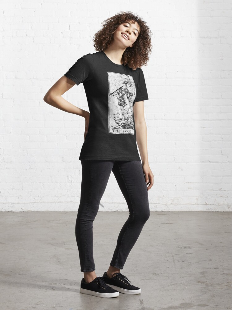 Alternate view of The Fool Tarot Card - Major Arcana - fortune telling - occult Essential T-Shirt