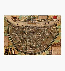 Cologne Vintage map.Geography Germany ,city view,building,political,Lithography,historical fashion,geo design,Cartography,Country,Science,history,urban Photographic Print