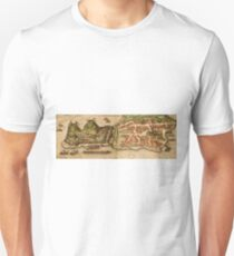 Corfu Vintage map.Geography Greece ,city view,building,political,Lithography,historical fashion,geo design,Cartography,Country,Science,history,urban T-Shirt