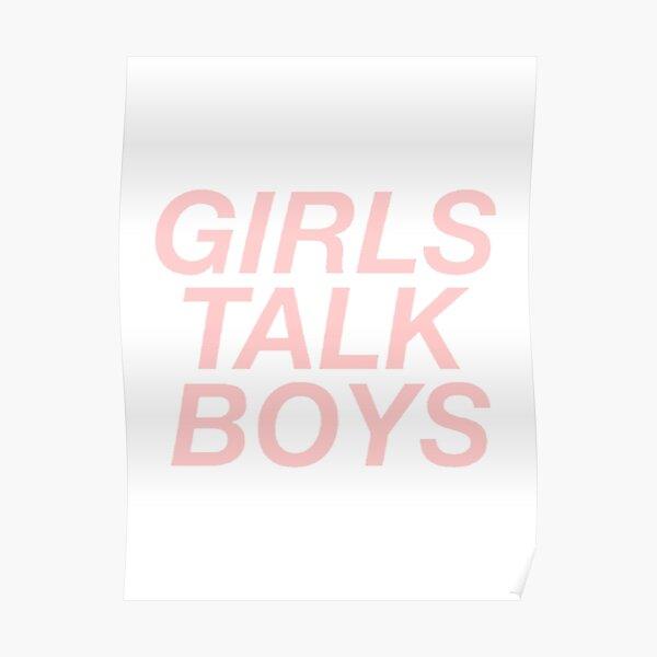 girls talk boys vers. 1 - white Poster