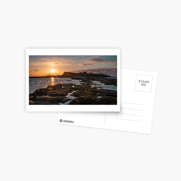 Walk Into the Sun at Hilbre Island Postcard