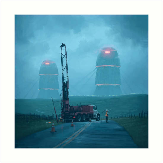 Roadwork by Simon Stålenhag