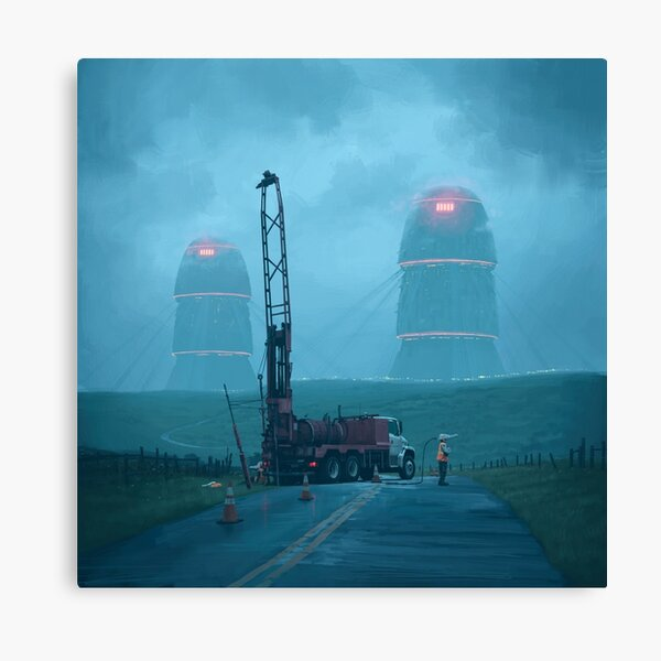 Roadwork Canvas Print