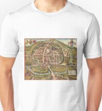 Exeter Vintage map.Geography Great Britain ,city view,building,political,Lithography,historical fashion,geo design,Cartography,Country,Science,history,urban T-Shirt