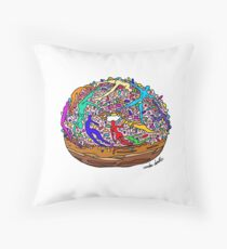 Human Donut Sprinkles Throw Pillow