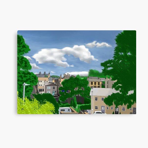 Veiw Across Lane Head Road Canvas Print