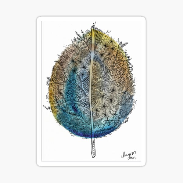 Warm leaf Sticker