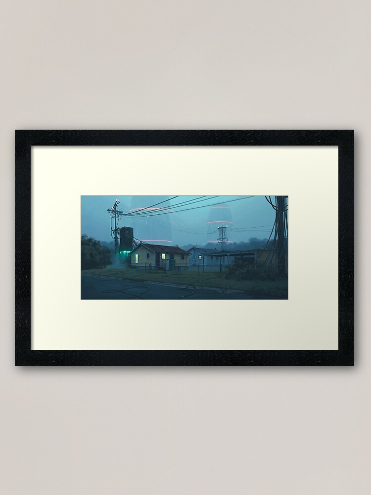 Alternate view of Local Servers Framed Art Print
