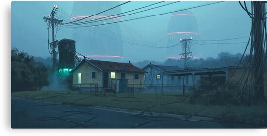 Local Servers by Simon Stålenhag