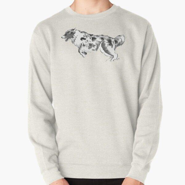 Australian Shepherd Drawing Pullover Sweatshirt