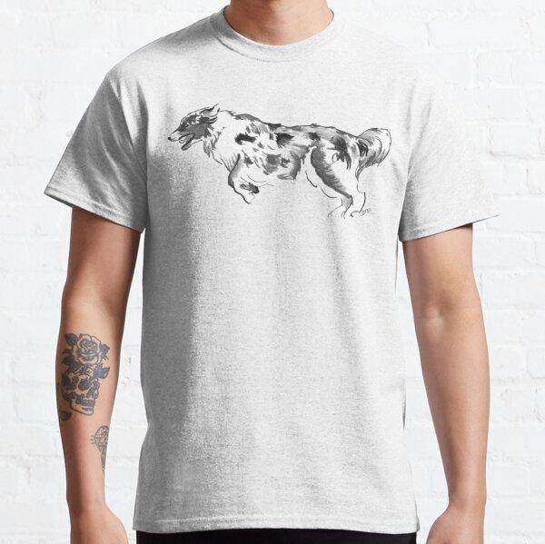 Australian Shepherd Drawing Classic T-Shirt