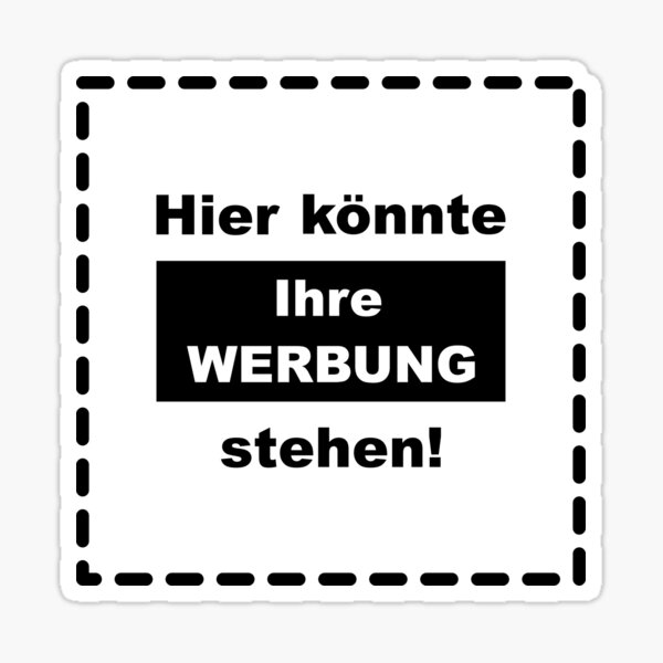 Here could be your advertising! Sticker