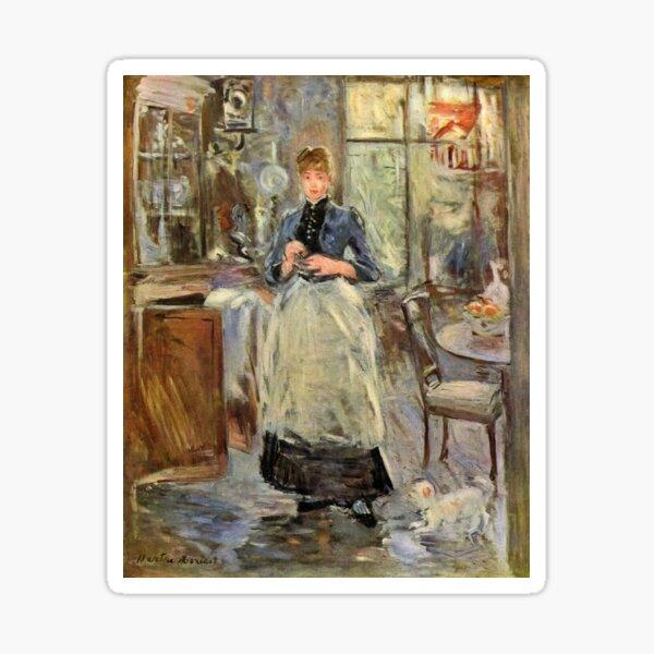 Vintage Fine Art - Berthe Morisot -1841 - Woman at home Sticker
