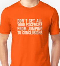 Exercise by jumping Unisex T-Shirt