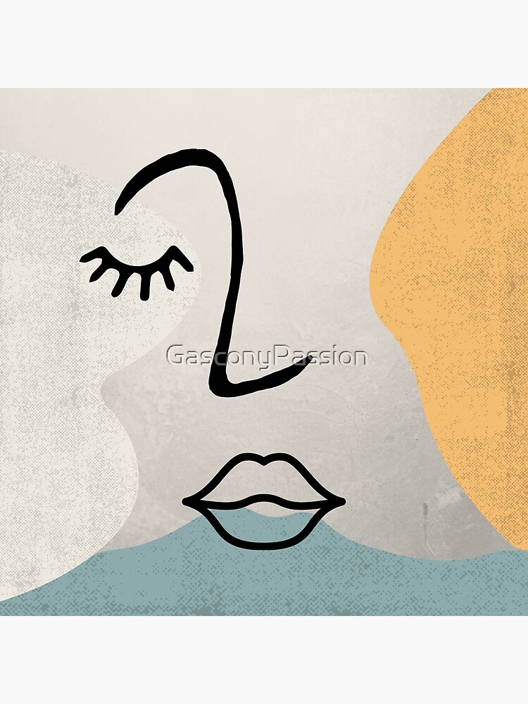 Face Line Drawing by GasconyPassion