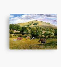 Wolstonbury Hill by Mary Faux Jackson Canvas Print