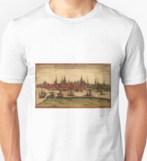Hansa Vintage map.Geography Sweden ,city view,building,political,Lithography,historical fashion,geo design,Cartography,Country,Science,history,urban T-Shirt
