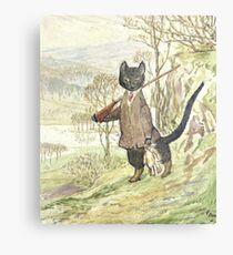 Jagd auf schwarze Katze von Beatrix Potter Metalldruck
