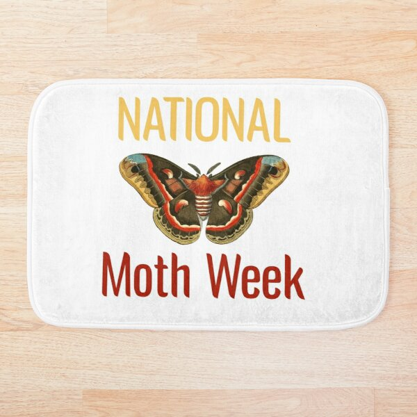 National Moth Week Bath Mat