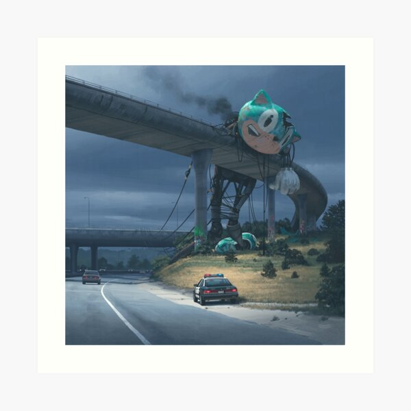Incident On The Edge Of Town Art Print