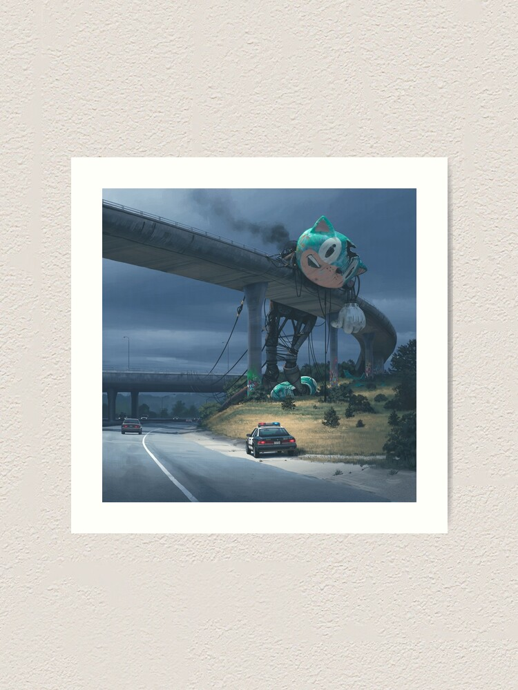 Alternate view of Incident On The Edge Of Town Art Print