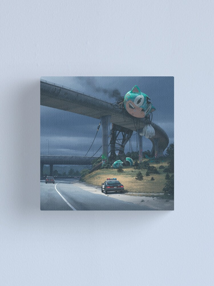 Alternate view of Incident On The Edge Of Town Canvas Print