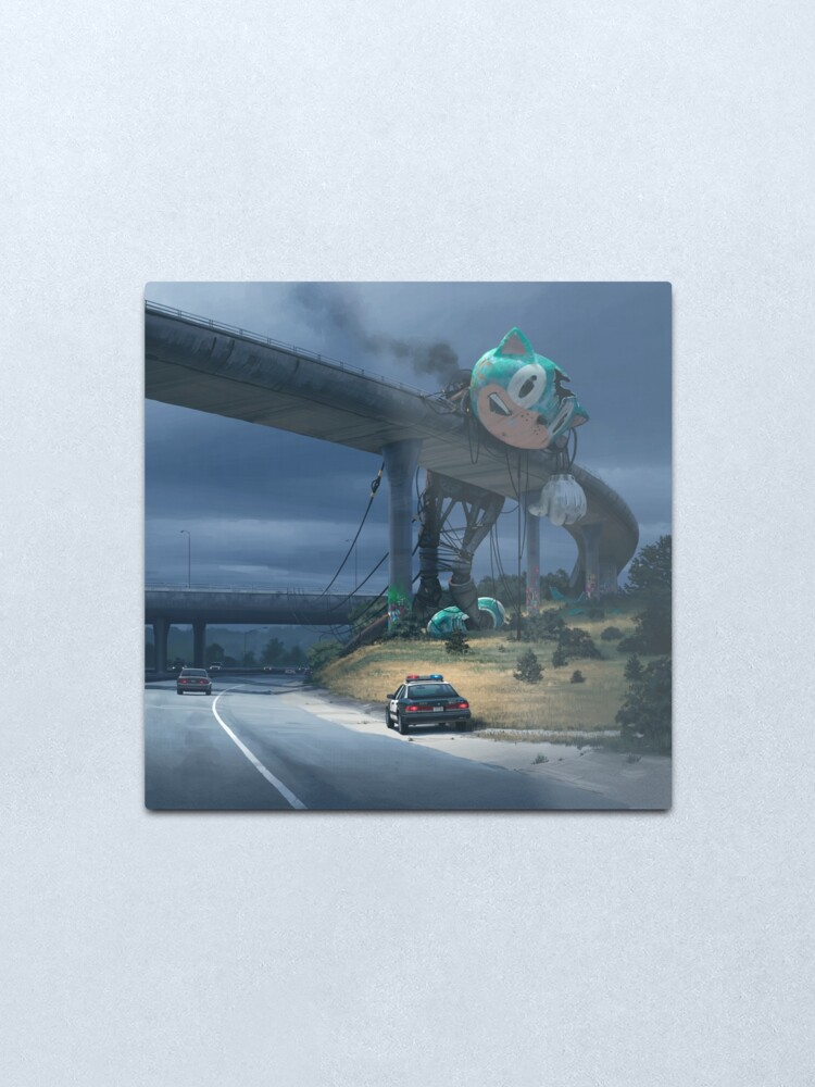 Alternate view of Incident On The Edge Of Town Metal Print