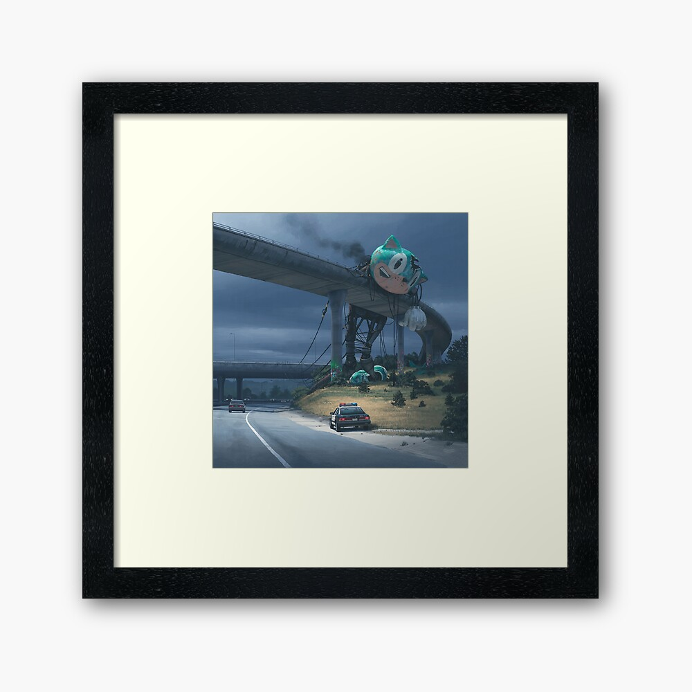 Incident On The Edge Of Town Framed Art Print