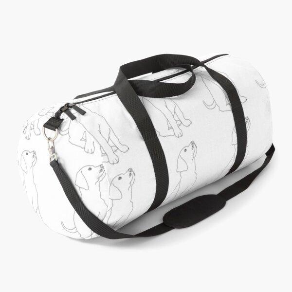 Dog Line Art Duffle Bag