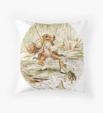 Mr. Jeremy Fisher by Beatrix Potter Throw Pillow