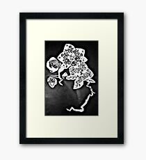 Orchids in the Spotlight - Floral Geometry Study  Framed Print