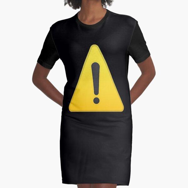Warning Sign  Alert Symbol Gift Graphic T-Shirt Dress