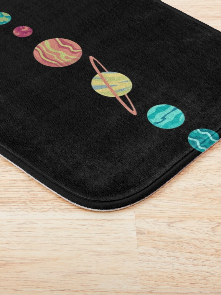 Alternate view of Solar System GAME OVER - Pixel Sun Eating All Planets of our Solar System Bath Mat