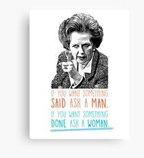 Iron Lady - Margaret Thatcher Canvas Print