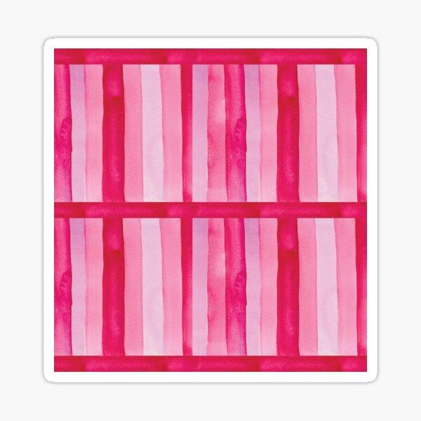 Pink Stripes Sticker