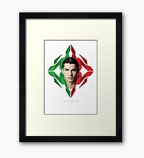 Vector Celebrities - Cristiano Ronaldo Framed Print