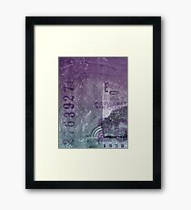 Purple abstract Framed Print