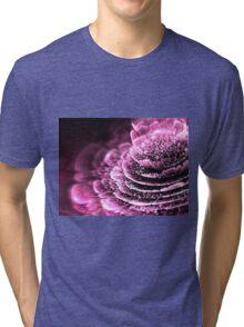Pink Flower - Abstract Fractal Artwork Tri-blend T-Shirt