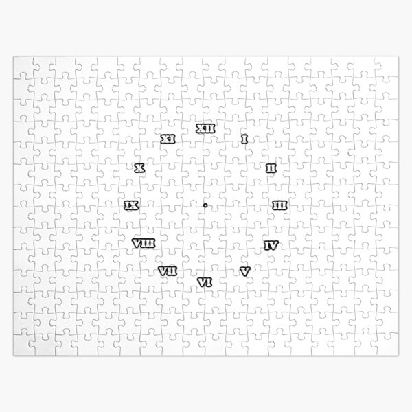 Clock Dial with Roman Numerals Jigsaw Puzzle