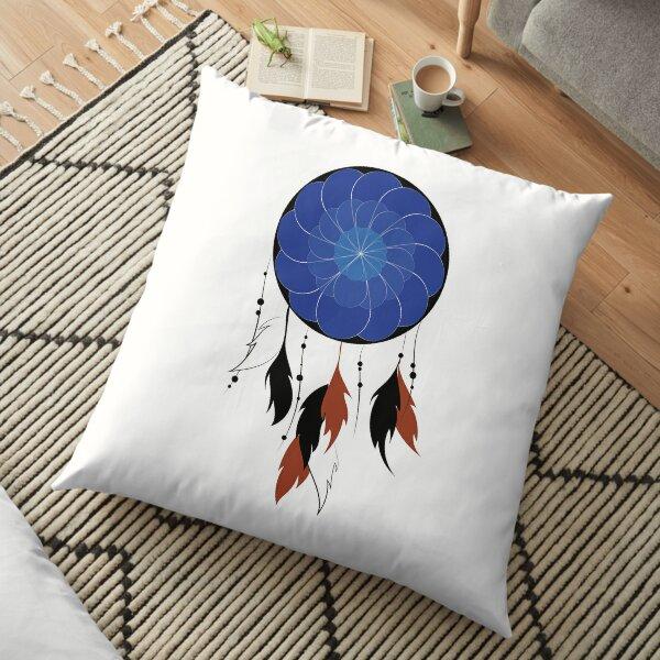 My Lucky Blue Dreamcatcher  Floor Pillow