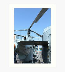 military helicopter Art Print