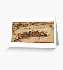 Lindau Vintage map.Geography Germany ,city view,building,political,Lithography,historical fashion,geo design,Cartography,Country,Science,history,urban Greeting Card