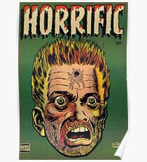 Horrific Tales dead soldier cover Poster