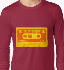 Psychedelic Mix Tape - Orange and Yellow Long Sleeve T-Shirt