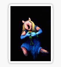 Miss Piggy Devouring Kermit Sticker