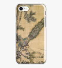Shen Nanpin - Bamboo, Pine And Peacocks. Forest view: forest , trees,  fauna, nature, birds, animals, flora, flowers, plants, field, weekend iPhone Case/Skin